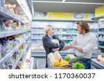 shopping time. positive man and ... | Shutterstock . vector #1170360037