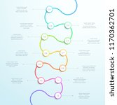 12 point curved vertical 3d... | Shutterstock .eps vector #1170362701