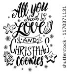 christmas quote. the hand... | Shutterstock .eps vector #1170371131