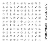 oncology icon set. collection... | Shutterstock .eps vector #1170372877