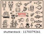 big set of design elements for... | Shutterstock .eps vector #1170379261