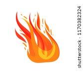 flat vector icon of blazing... | Shutterstock .eps vector #1170382324