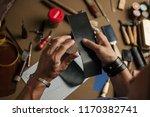 working process of hand made... | Shutterstock . vector #1170382741