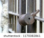 ancient rusty bolt with gate... | Shutterstock . vector #1170382861
