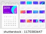 2019 calendar minimal gradient...   Shutterstock .eps vector #1170383647