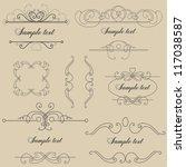 set of vintage vignettes | Shutterstock .eps vector #117038587
