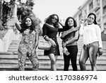 group of four african american... | Shutterstock . vector #1170386974