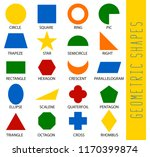 educational geometric shapes... | Shutterstock .eps vector #1170399874