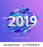creative happy new year 2019... | Shutterstock .eps vector #1170409624