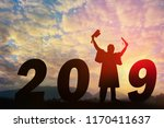 happy new year silhouette...   Shutterstock . vector #1170411637