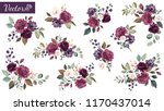 set of floral branch. flower... | Shutterstock .eps vector #1170437014