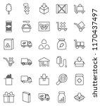 thin line vector icon set  ... | Shutterstock .eps vector #1170437497