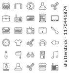 thin line vector icon set  ... | Shutterstock .eps vector #1170441874