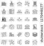 thin line vector icon set  ... | Shutterstock .eps vector #1170448177