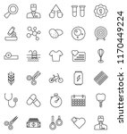 thin line vector icon set  ... | Shutterstock .eps vector #1170449224