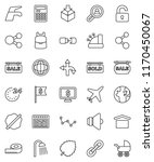 thin line vector icon set  ... | Shutterstock .eps vector #1170450067