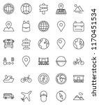 thin line vector icon set  ... | Shutterstock .eps vector #1170451534