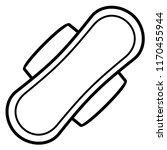 women's sanitary pad. vector... | Shutterstock .eps vector #1170455944