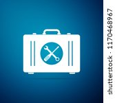 toolbox icon isolated on blue... | Shutterstock .eps vector #1170468967