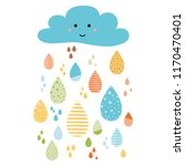 cloud smile funny colorful... | Shutterstock .eps vector #1170470401