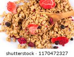 muesli cereals close up with ... | Shutterstock . vector #1170472327