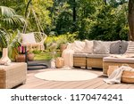 a big terrace with a... | Shutterstock . vector #1170474241