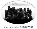 big city. vector eps 10