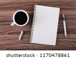 top view of coffee cup and... | Shutterstock . vector #1170478861