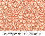 Woodblock Printed Orange...