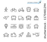 transportation line icons.... | Shutterstock .eps vector #1170481294