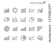 statistics line icons. editable ... | Shutterstock .eps vector #1170481297