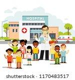 pediatrician doctor concept.... | Shutterstock .eps vector #1170483517