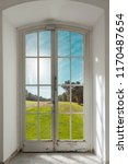 french door with a nature view  ... | Shutterstock . vector #1170487654