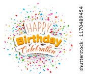 anniversary celebration birth... | Shutterstock .eps vector #1170489454