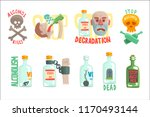 dangers and risk from alcohol... | Shutterstock .eps vector #1170493144
