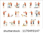 personal gym coach trainer or... | Shutterstock .eps vector #1170493147