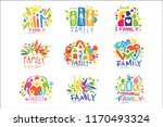 family colorful labels original ... | Shutterstock .eps vector #1170493324