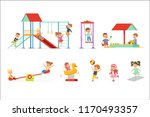 cute cartoon little kids... | Shutterstock .eps vector #1170493357