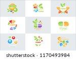 vitamins logo set original... | Shutterstock .eps vector #1170493984