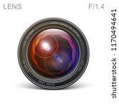 set camera lens object glass... | Shutterstock .eps vector #1170494641