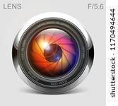 set camera lens object glass... | Shutterstock .eps vector #1170494644