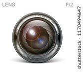 set camera lens object glass... | Shutterstock .eps vector #1170494647
