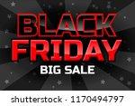 big sale design template  black ... | Shutterstock . vector #1170494797