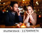 sad couple having conflict and... | Shutterstock . vector #1170494974