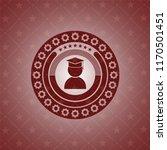 graduation icon inside badge... | Shutterstock .eps vector #1170501451