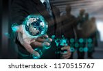 e commerce concept with vr... | Shutterstock . vector #1170515767
