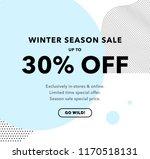 30  off price discount. winter... | Shutterstock .eps vector #1170518131