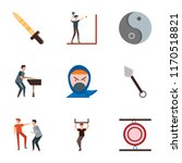 set of 9 simple icons such as... | Shutterstock .eps vector #1170518821