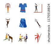 set of 9 simple icons such as... | Shutterstock .eps vector #1170518824