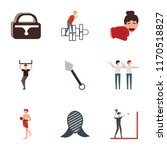 set of 9 simple icons such as... | Shutterstock .eps vector #1170518827